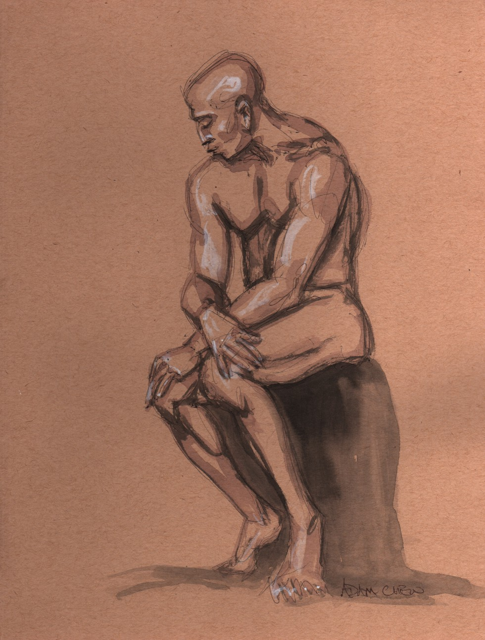 man sitting - AdamChew, 2014