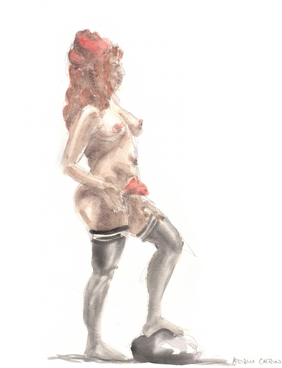 """""""Black Stockings, Red Hat and Rose"""" - Adam Chew"""