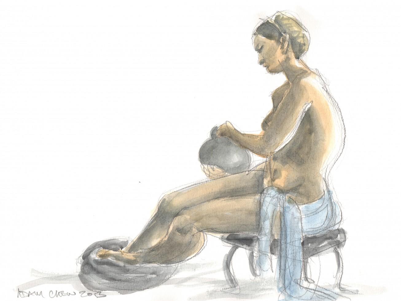 Woman with Vase - Adam Chew, 2013