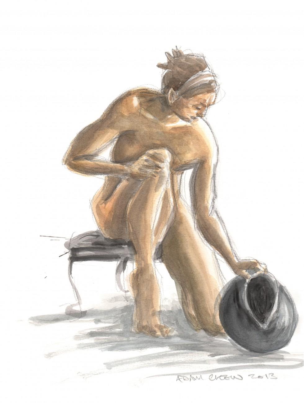 Woman with Vase 2 - Adam Chew, 2013