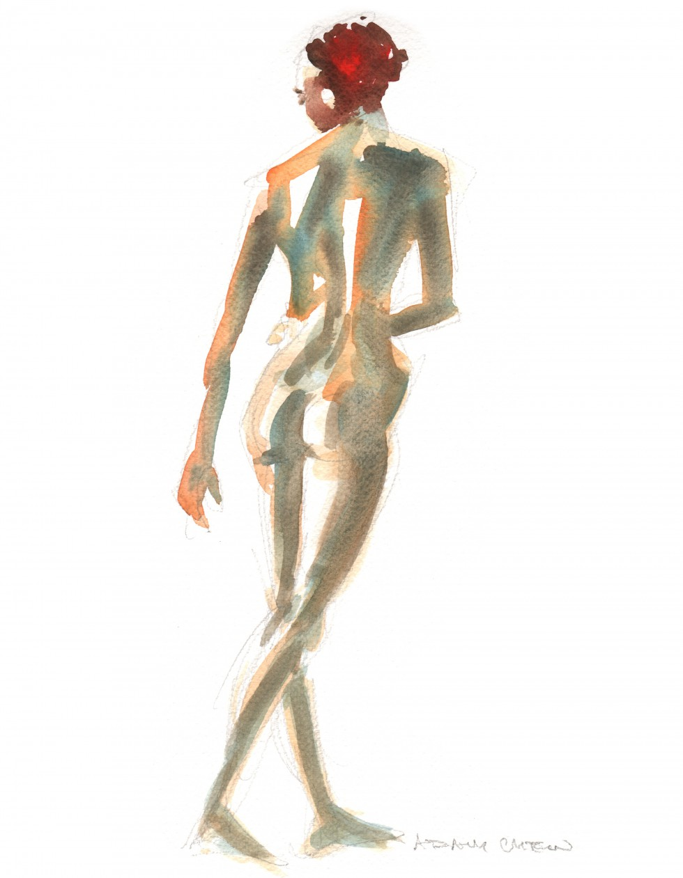 woman standing - Adam Chew, 2013