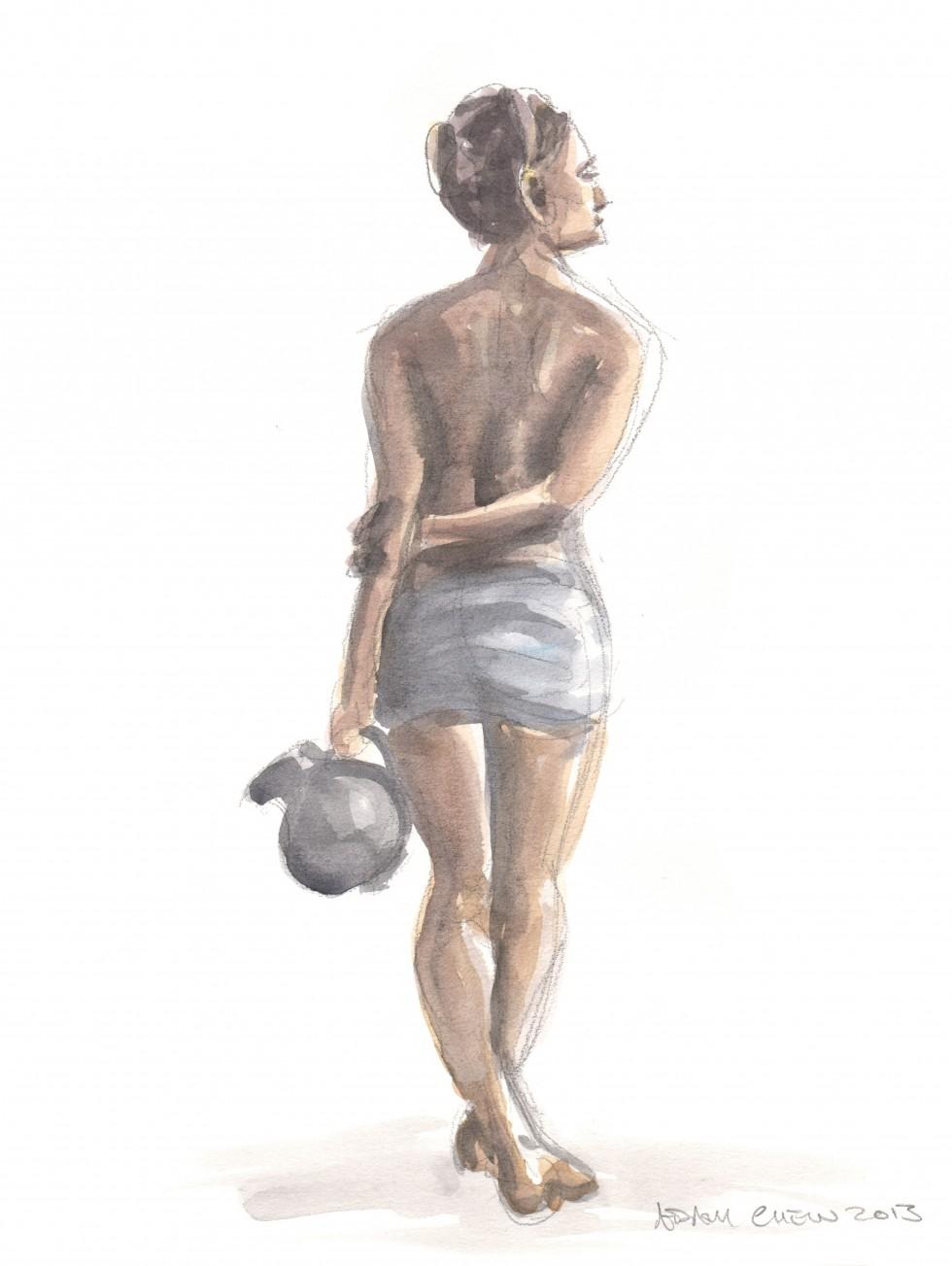 Woman with Vase 3 - Adam Chew, 2013